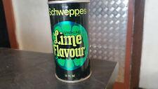 vintage schweppes sparkling lime soft drink tin can