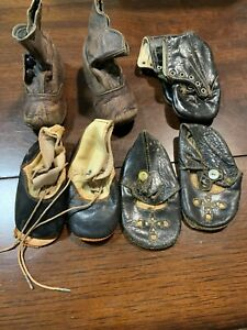 Antique Baby Shoes--Four Pairs--One is Button Up--