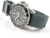 SUPERB GUN METAL GREY NATO® G10 STRAP FOR TAG HEUER WATCH WATCHES 20mm