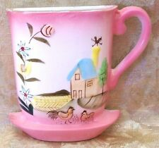 Betson's Vintage Ceramic Wall Pocket Hand Painted with Raised Details