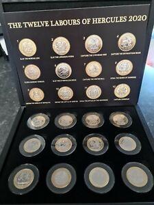 2020 Gibraltar Labours Of  Hercules £2 Coin (Full Set) Pobjoy