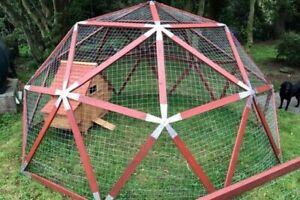 Geodesic Dome hub system - Green house, Bird Aviary, Office pod, hen run
