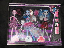 NIB Monster High Dot Dead Gorgeous 3 Doll set EXCLUSIVE Draculaura Abbey Ghoulia