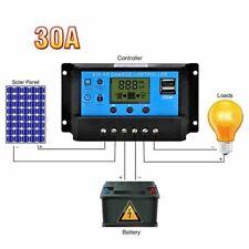 30A Batterie Solaire Panneau Contrôleur de Charge Régulateur USB 12V/24V FR
