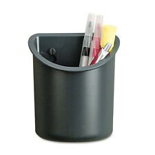 UNIVERSAL Recycled Plastic Cubicle Pencil Cup 4 1/4 x 2 1/2 x 5 Charcoal 08193