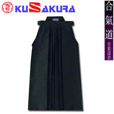 KUSAKURA Japanese Aikido gi Aikidogi Hakama Pants skirt Black Made in Japan