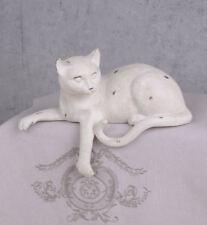 Figur Kater Kantenhocker Katzenfigur Kantensitzer Landhausstil liegende Katze
