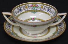 Antique/Vtg Minton Grasmere Boullion Cup w/Saucer Mustard 2 handle several avail