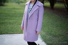 Women's Fall/Winter Long Jacket Coats Outerwear Blazer Purple Color Size M