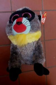 Ty Beanie Boos Wasabi the Baboon 16 cm with Tags Like New