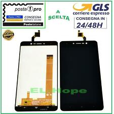 DISPLAY LCD WIKO LENNY 4 PLUS TOUCH SCREEN VETRO SCHERMO MONITOR 5,5'' NERO