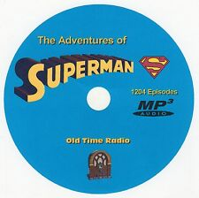 THE ADVENTURES OF SUPERMAN - Old Time Radio - 1204 Episodes - 1 MP3 DVD