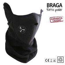Braga para cuello PASAMONTAÑAS mascara neopreno NEGRO para casco moto bici snow