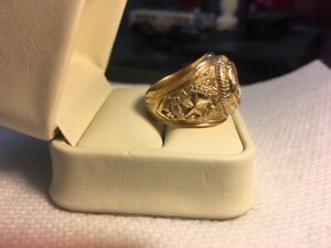 Texas A&M  University Ring with Diamond Men's sz 9 10K
