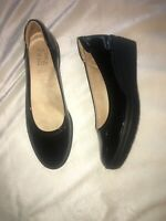 NATURALIZER Sam Wedge Heel Slide On Pumps in Black Patent Leather SZ 8 M NEW