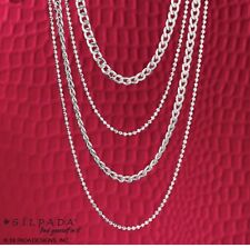 "Silpada N3025 ""High Authority"" Sterling Silver Necklace 4 Strands in one Italian"