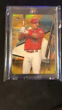 2020 TOPPS FINEST BASEBALL GOLD REFRACTOR MIKE TROUT SP 9/50 ANGELS! MVP!