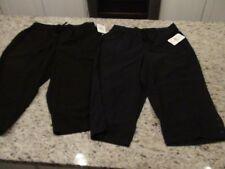 NEW breckenridge Deep Indigo and Licorice Khaki Capri Pants Size M (Lot of 2)