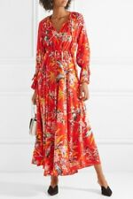 New with tags! DIANE VON FURSTENBERG DVF floral red MAXI dress -Small - RRP£400!