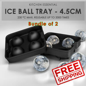 SOL Home Bundle of 2 Ice Ball Tray - 4.5cm