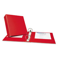 """Avery Economy Non-View Binder with Round Rings 11 x 8 1/2 3"""" Capacity Red 03608"""