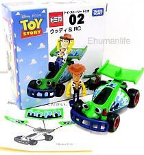 Takara Tomy Tomica Disney Toy Story 02 Woody & RC Race Car Diecast 2