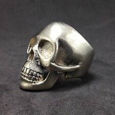 Mens Womens Silver Skull Biker Pirate Statement Jewelry Ring Size US 7.5