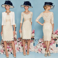 Champagne Mother Of The Bride/Groom Outfits Free Jacket Knee Length Formal Dress