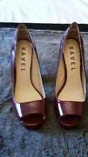 Ravel Burgundy High Heel Peep Toe Ladies Shoes