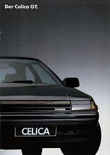 Toyota Celica GT Prospekt 6/86 Autoprospekt 1986 Broschüre brochure broschyr Pkw