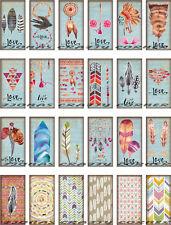 24 MINI NATURE BOHEMIAN LOVE FEATHERS HANG / GIFT TAGS FOR SCRAPBOOK PAGES (02)