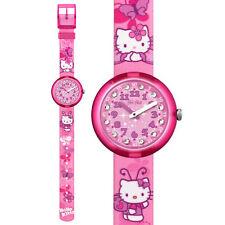 flik flak hello kitty butterfly orologio bambina analogico rosa farfalle strass