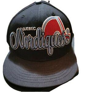 QUBEC NORDIQUES🏒 VINTAGE BASEBALL HAT flat bill snap back Hockey🏒 Cap Free Sh