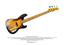 Sting's 1957 Fender Precision Bass ART POSTER A3 size
