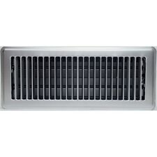 Satin Chrome Metal Louvered Floor Vent Register Cover Ducted Heating 100x300