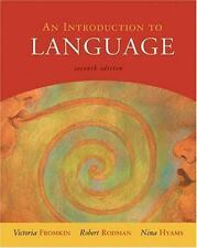 An Introduction to Language Nina Hyams Robert Rodman Victoria Fromkin book 7th e