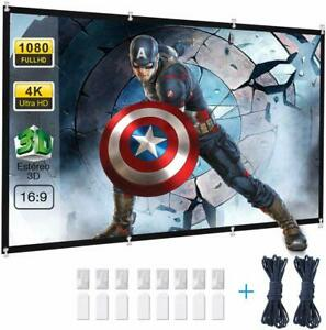"AB1 120"" PANTALLA PROYECCION HD PLEGABLE 16:9 ANTIARRUGAS LAVABLE CINE EN CASA"