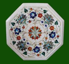 """New listing 12"""" Marble Coffee Table Top Inlay Handmade Work For Home Decor and Gifts"""