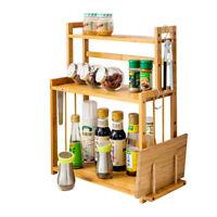 1/3 Storey Bathroom Countertop Organizer Kitchen Spice Rack Counter StorageShelf