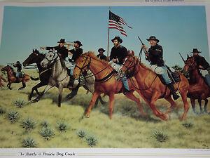 1990 BATTLE OF PRAIRIE DOG CREEK 1867 18TH KANSAS CAVALRY INDIAN WAR PRINT