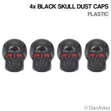4x Black Skull Car Bike Motorcycle BMX Wheel Tyre Valve Plastic Dust Caps
