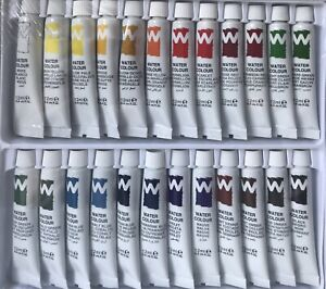 Watercolour Paint Set Tubes Pack of 24x12mLHigh Quality, Non Toxic 24 Colours