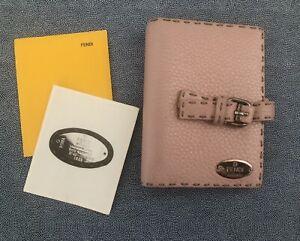 Fendi Selleria Agenda - Pink Pebbled Leather