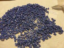 perle vintage lot  830 perle en verre bleu lapis forme rectangle + cadeau