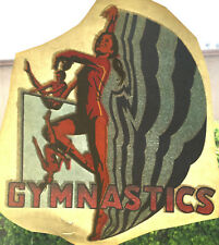 Vintage Girls Woman's Gymnastics iron on shirt heat transfer retro Olympics