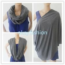 High Quality 100% Cotton Infinity Nursing/Breastfeeding Scarf Gray Baby Cover