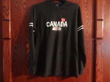 SONICE CANADA SIZE LARGE BLACK LONG SLEEVE TEE
