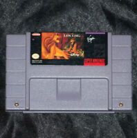 THE LION KING - SNES SYSTEM GAME - DISNEY - ((TESTED & WORKING)) AUTHENTIC!!