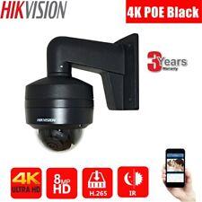 Hikvision 4K 8Mp Black Dome Security Home Camera & Bracket Ir Ip67 Outdoor