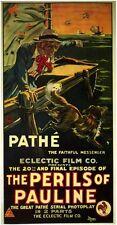 THE PERILS OF PAULINE Movie POSTER 27x40 Pearl White Crane Wilbur Paul Panzer